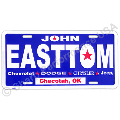 Aluminum license plates, Promotional front plates, dealer plates