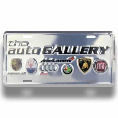 Aluminum License Plates, Dealership Inserts