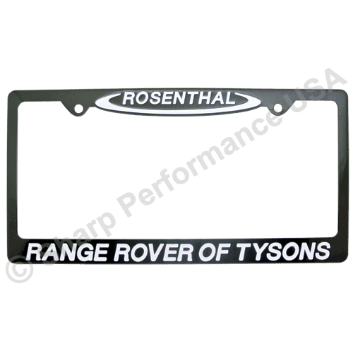 Black Powder Coat Stainless Steel License Plate Frames Metal