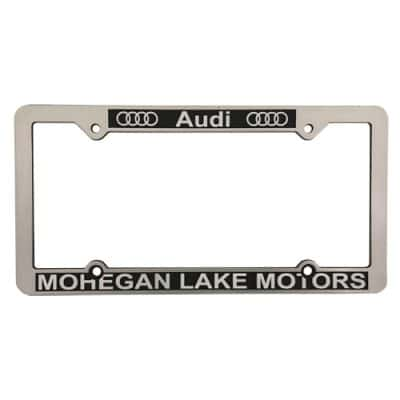 CHROME FACE ABS PLASTIC LICENSE PLATE FRAMES, promotional license plate frames, on car advertising