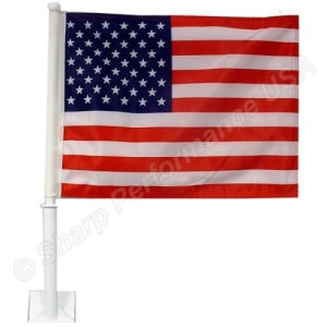 Car Window Flags – Great patriotic way of drawing attention to your lots!