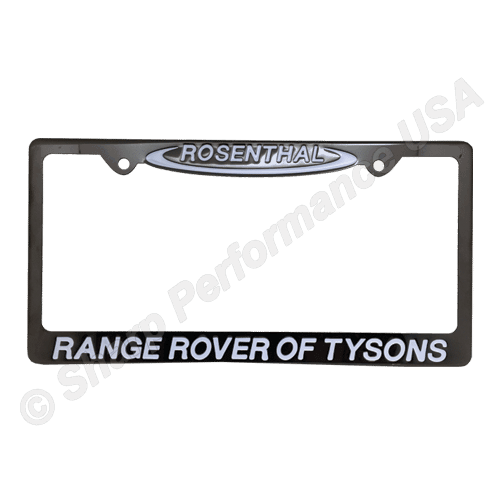 Custom Gun Metal Stainless Steel License Plate Frames 2