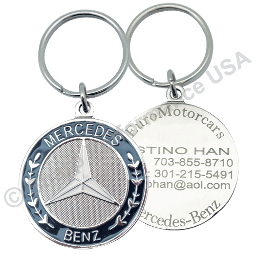 Item # K001MB, mercedes dealer keychains, dealer keychains, car dealer keychains
