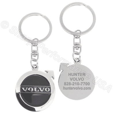 K001VO - Custom Die Struck Oval Dealer Keytag