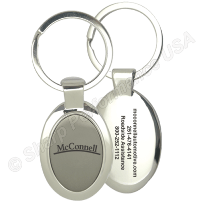 K0099 – Metal Two-Tone Keychain – Shiny Nickel & Black Nickel Plating Finish