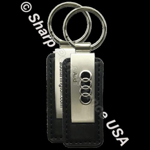 Item# K0383-3D Custom leather Key Tag with 3D Logo