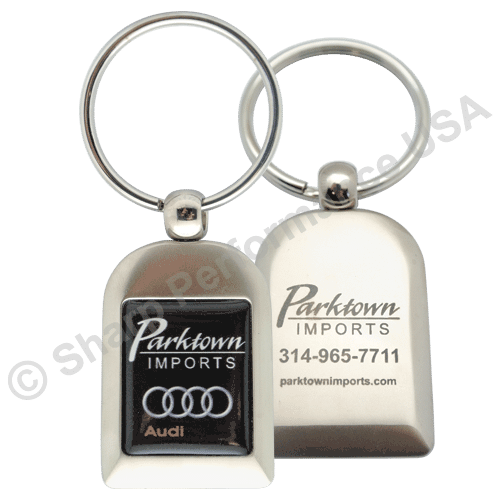 Custom Metal Key Holder Rectangular Color Logo