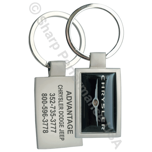 Item# K1001, custom keychain, low minimum