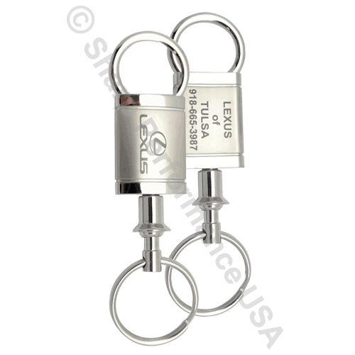 K1395 – Valet Pull A Part Keytag Zinc w/ 2 Tone Pearl Nickel & Shiny Finish