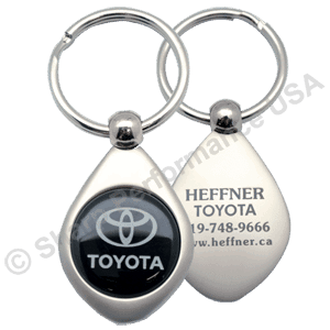K2008 – Teardrop Metal Key Tag w/ Pearl Nickel Finish
