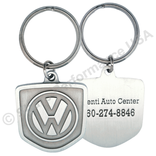 K2208 – Custom Die Struck Metal Keytag w/ Pearl Nickel Finish