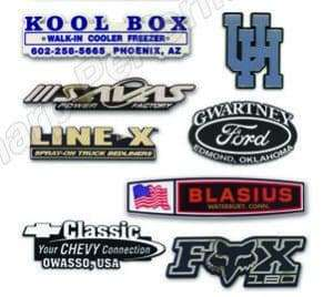 PLASTIC TRUNK EMBLEMS