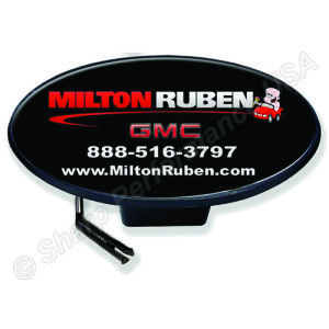 Custom logo trailer hitch covers with dome insert, plastic hitch cover, promotional hitch cover, Sharp Performance