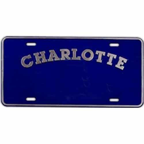 Thick front plate, plastic license plate