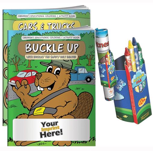 Coloring Book and- Fun Packs Custom Dealer promotional