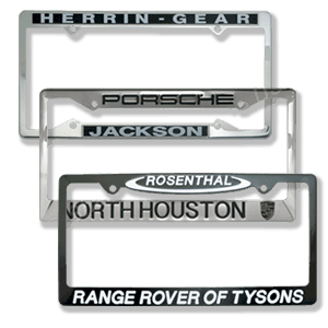 Custom Auto Dealer License Plate Frames  Perfect Subtle Dealer Advertising Items