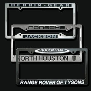 Custom Auto Dealer License Plate Frames  Perfect Subtle Dealer Advertising Items
