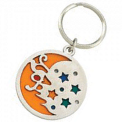 Custom Shape Logo Keychain Color Filled