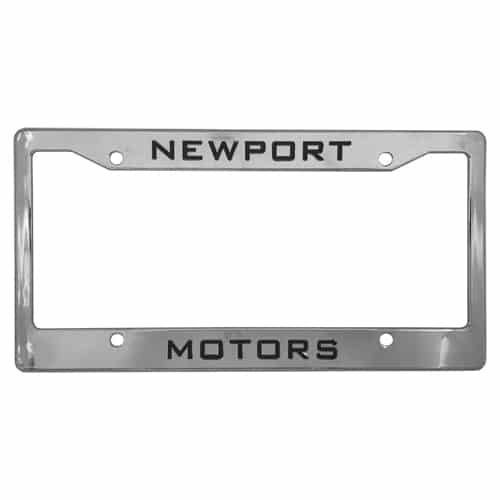 Chrome Plastic License Plate Frames With either four holes or two holes.