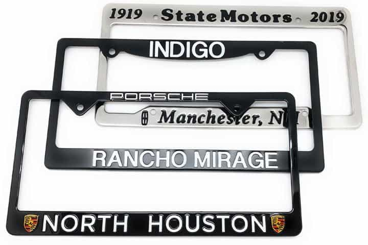 Custom Stainless Steel Metal License Plate Frames