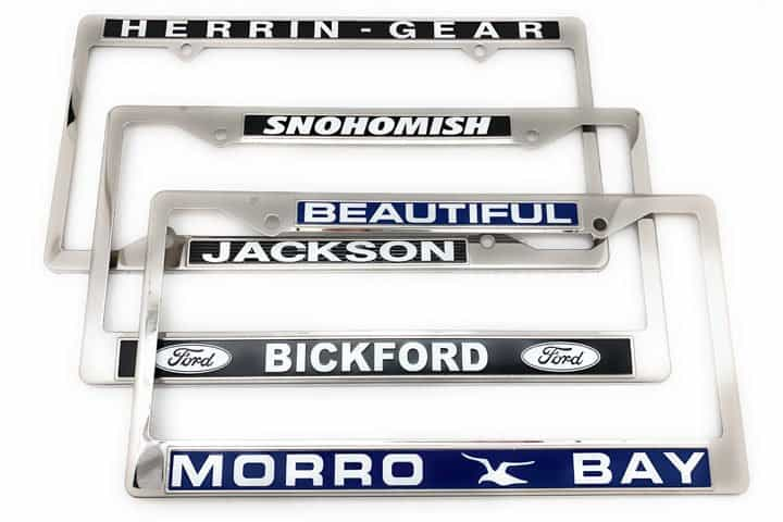 Raised Panel<br />Custom Stainless Steel License Plate Frames